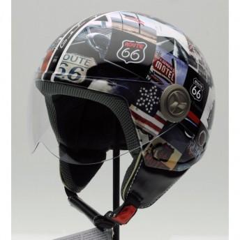 capacete-3d-vintage-route-66-motor-runing